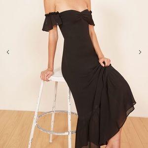🌟Reformation black butterfly midi dress size 8